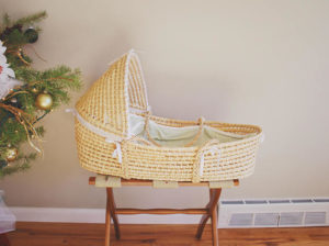 A bassinet makes a useful gift.