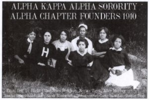 Alpha Kappa Alpha sorority members.