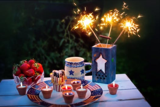 red, white and blue picnic