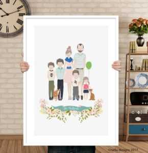 printed family portrait