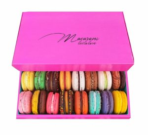 pink box of macarons