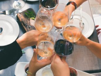 toasting friends