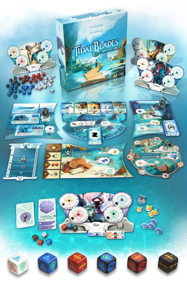 Tidal Blades: Heroes of the Reef board game
