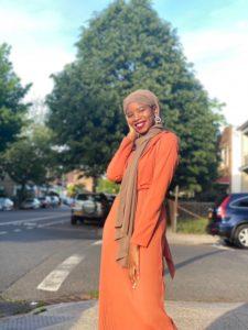 woman dressed for Eid celebration