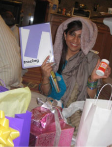 woman with Eid gifts