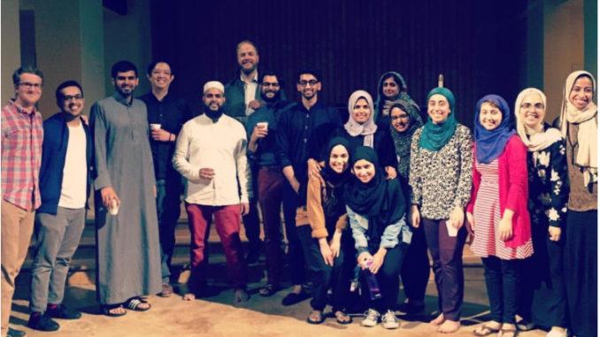 group of Muslim men and women