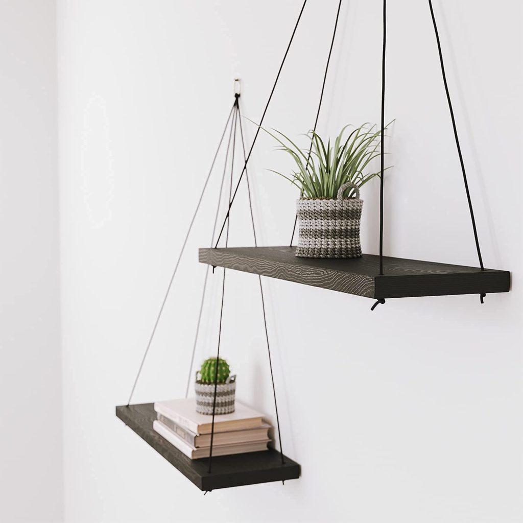 gift for virgo boho wooden wall shelves