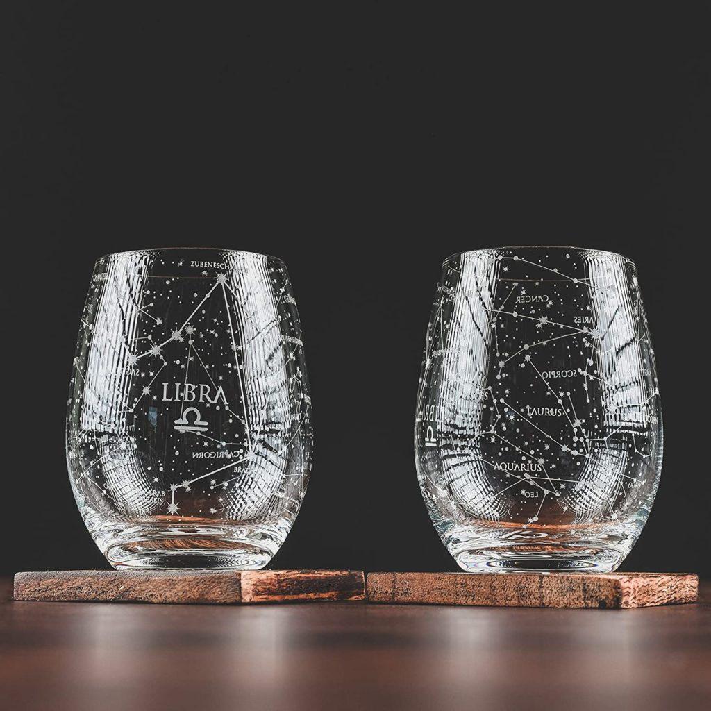 libra stemless wine glasses