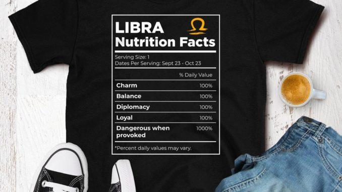 libra traits tshirt