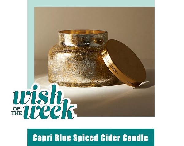 capri blue spiced cider candle from Anthropologie